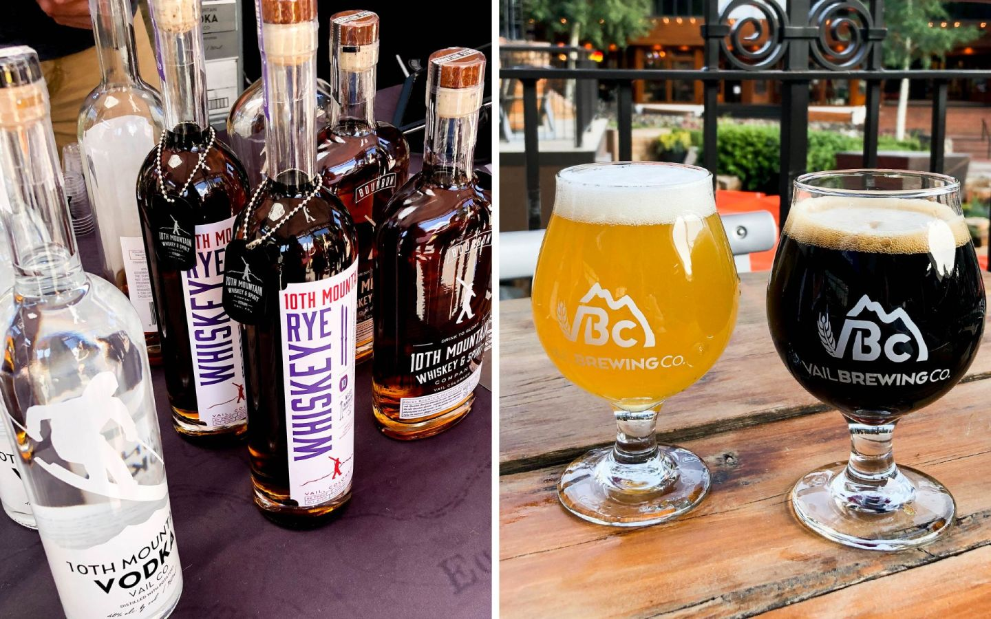 vail village - summer in vail - vail brewing - 10th mountain whiskey