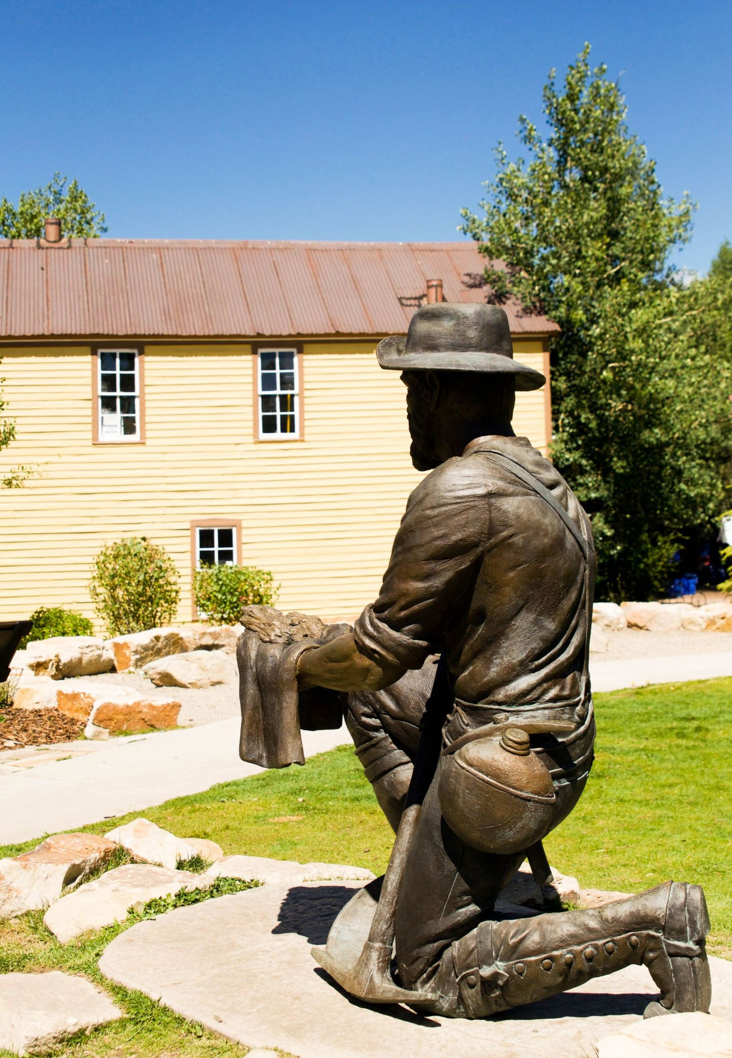breckenridge, co - summer in colorado - miner statue breckenridge
