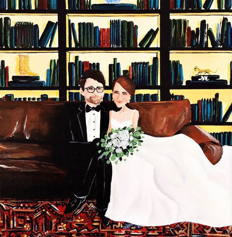 Paper Anniversary Gift Idea: Commission a Wedding Portrait
