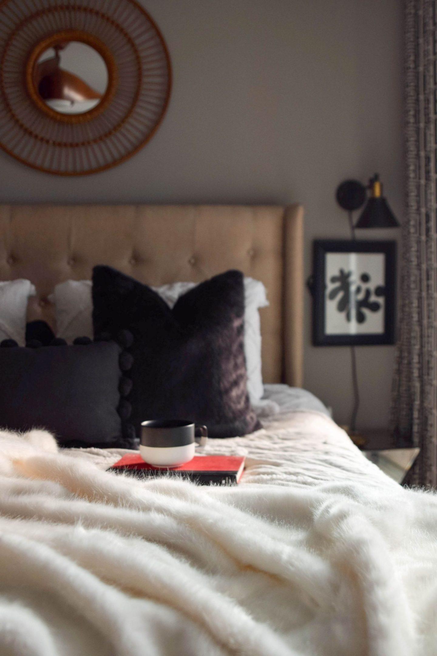 pb teen - pottery barn teen - faux fur pillow - faux fur throw - pb teen faux fur - winter bedroom updates