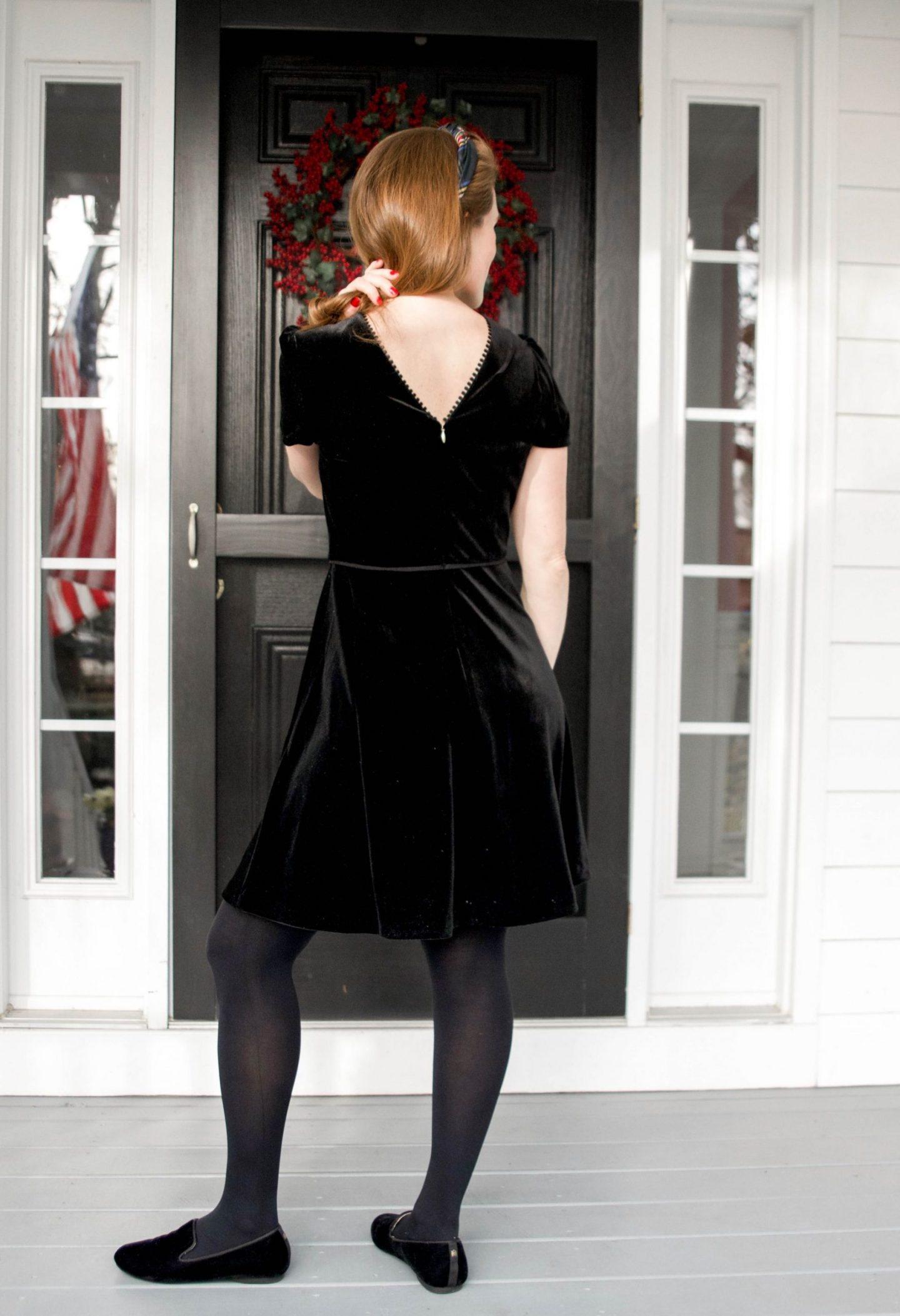 Draper James Velvet V-Back Dress Review - draper james dress - draper james velvet dress