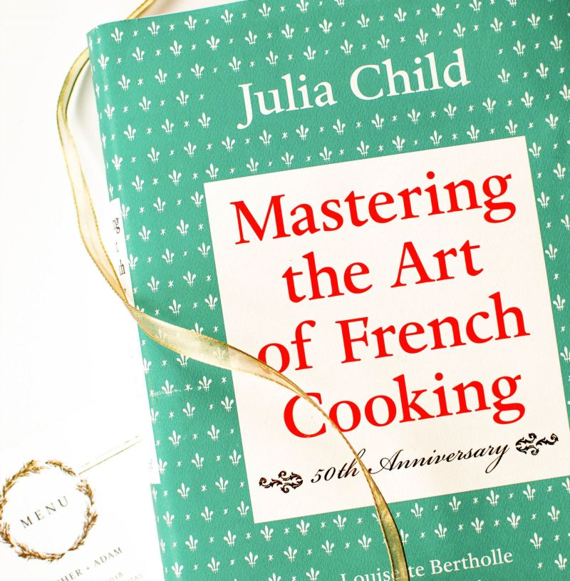 Our Cookbook Wedding Guest Book: A Julia Child Classic