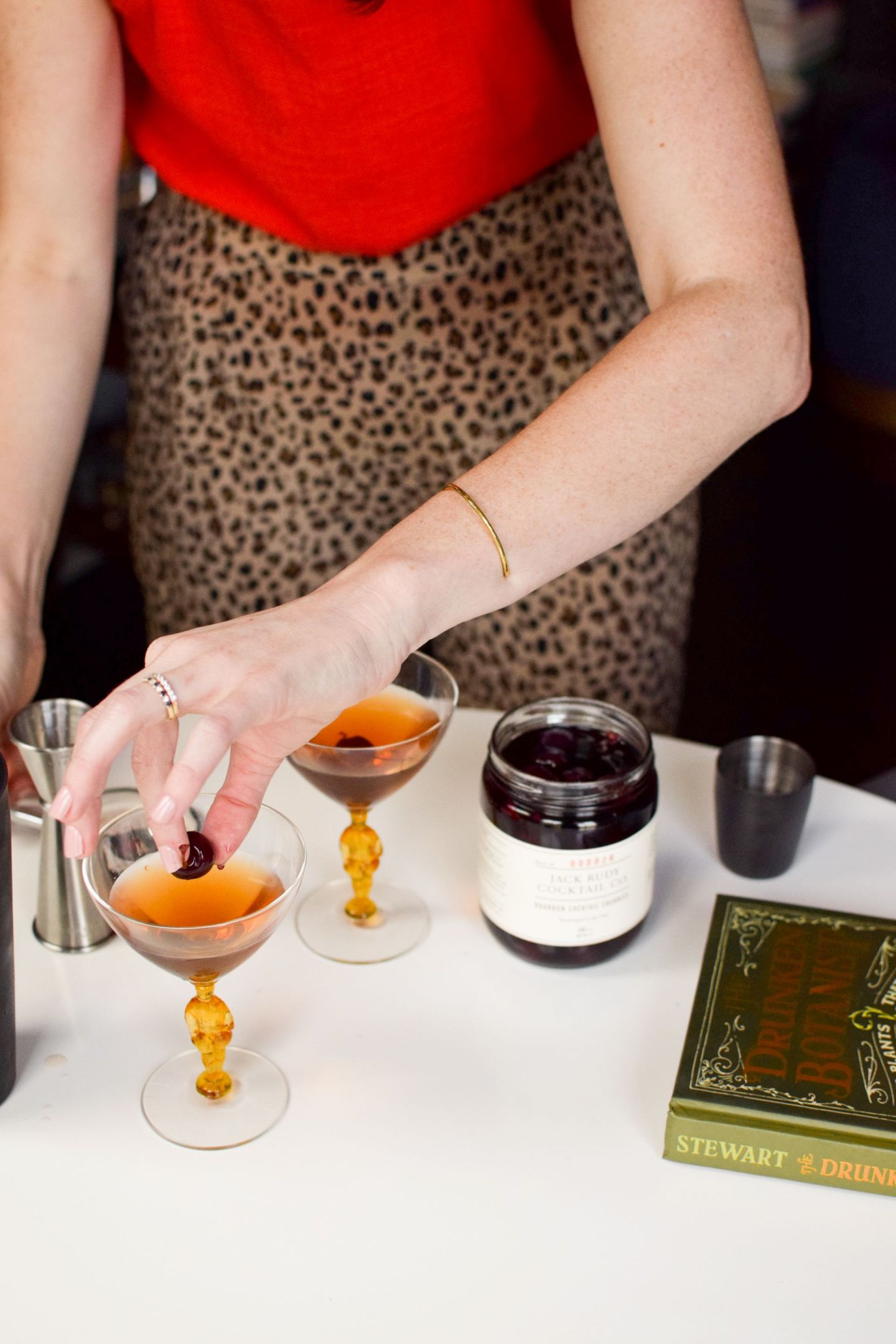 classic manhattan cocktail recipe - what to make with jack rudy bourbon cherries