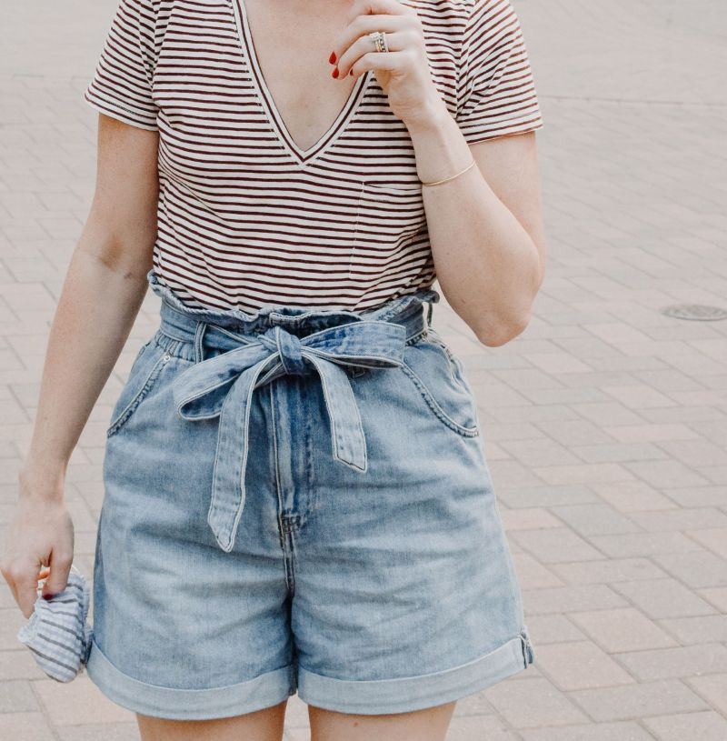 The Best Mom Jean Shorts: H&M Jean Shorts Review