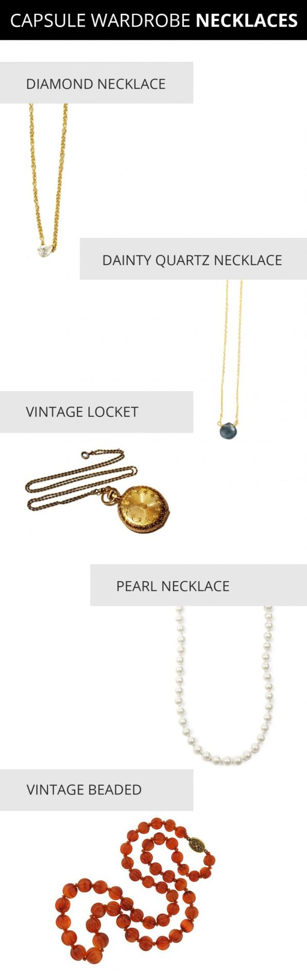capsule jewelry wardrobe - capsule wardrobe necklaces