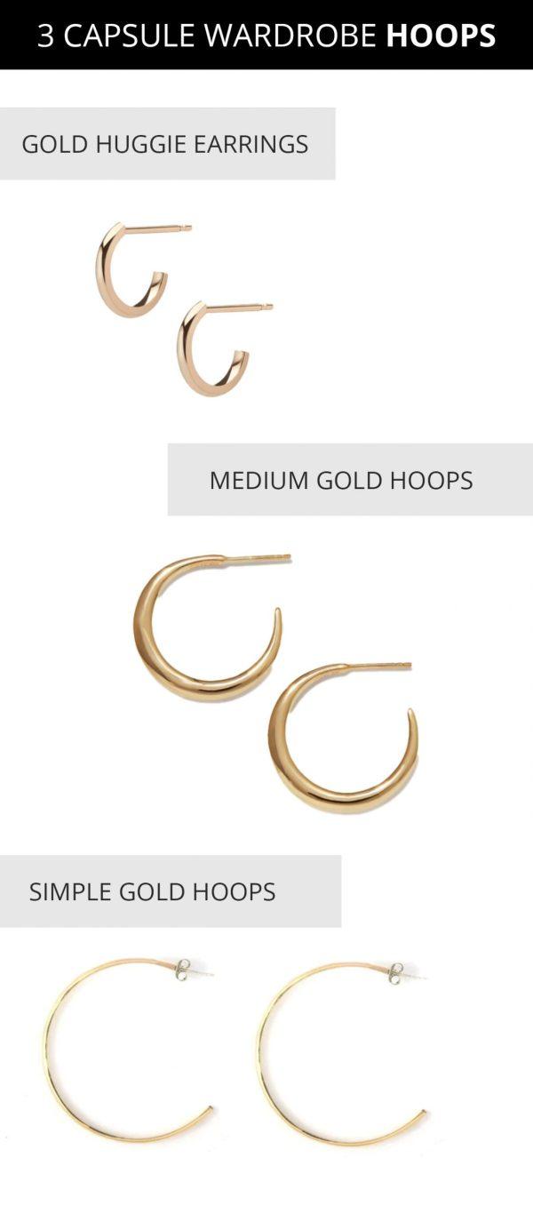 are hoop earrings in style - gold huggie earrings