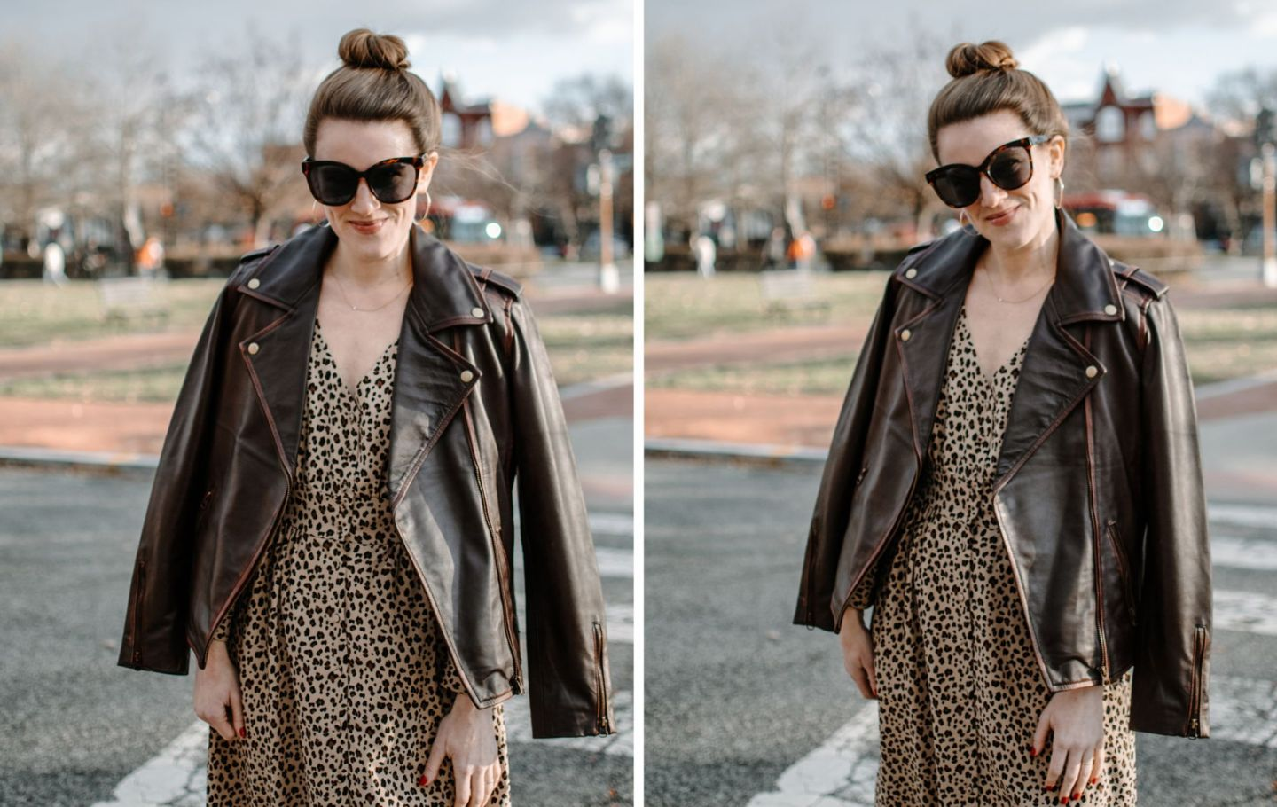 leather jacket with dress - angel jackets review