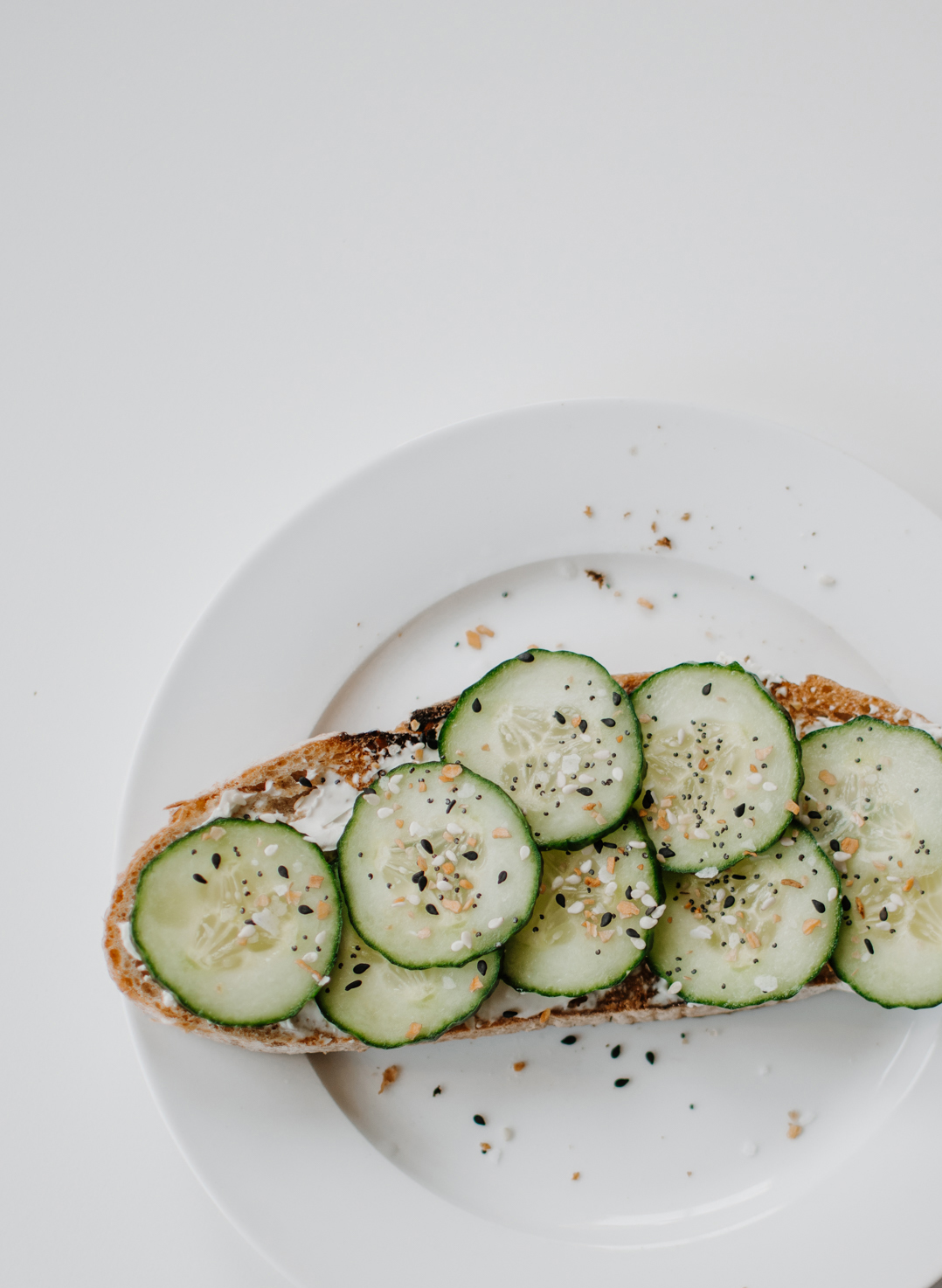 work from home lunch ideas - veggie and spread toast combinations