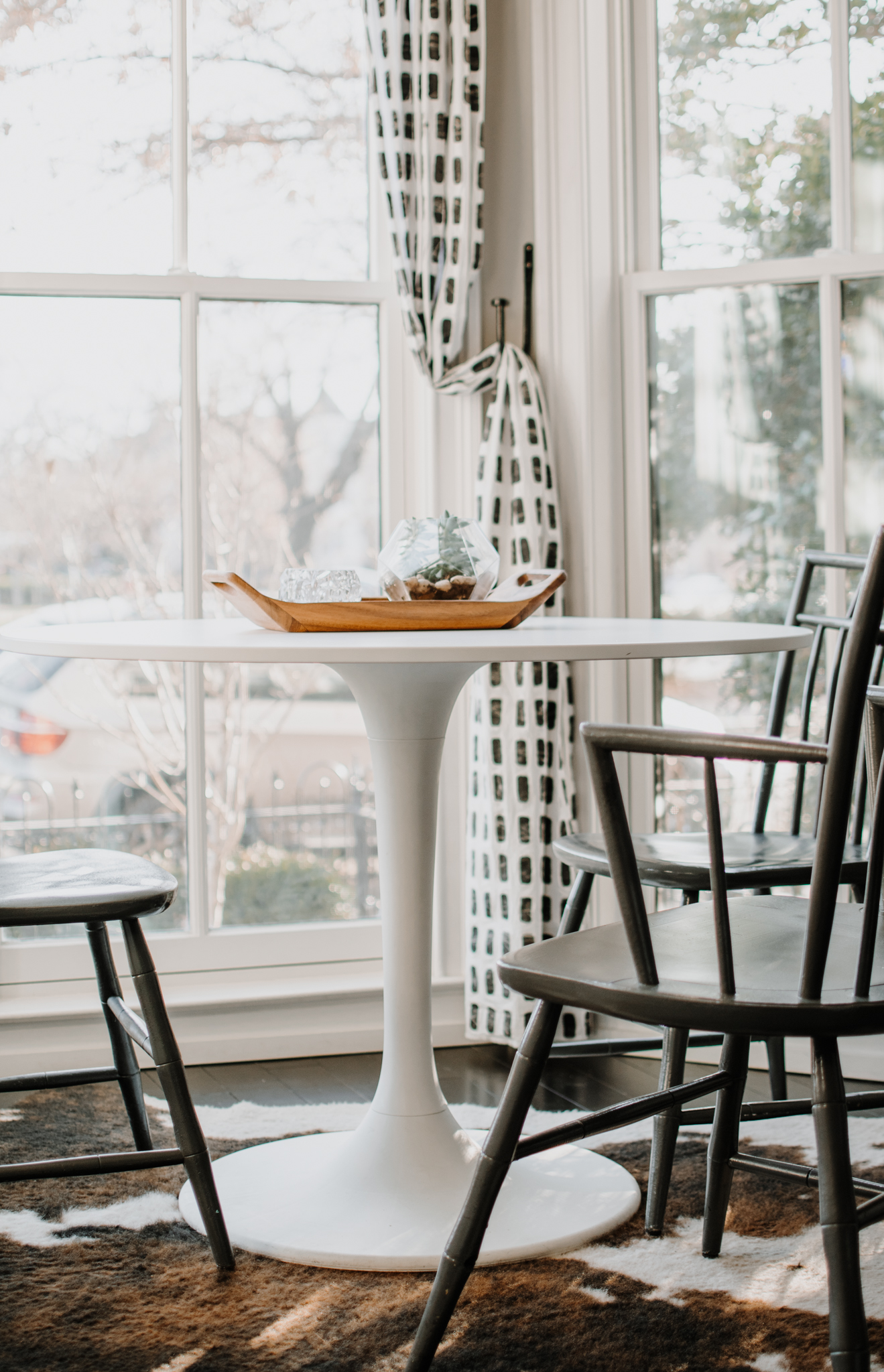 ikea docksta table material - refinish the docksta table
