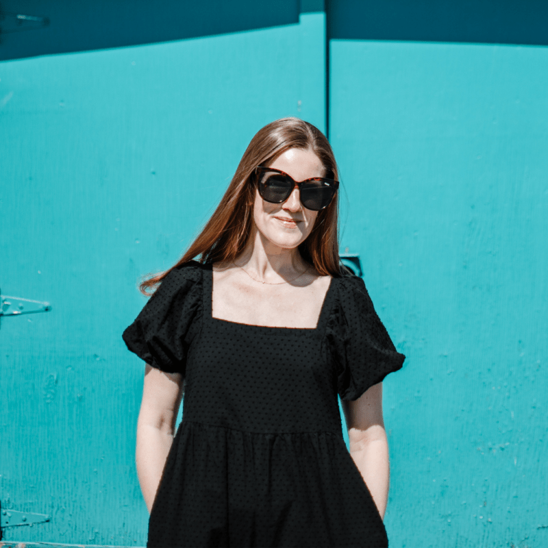 Target Black Swiss Dot Dress: A $30 Take on the Nap Dress