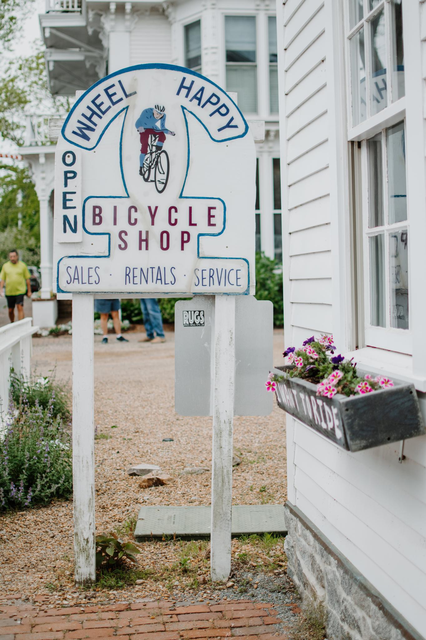 spring weekend in martha's vineyard - martha's vineyard travel guide - wheel happy bicycle shop edgartown - edgartown bike rental - martha's vineyard bike rental