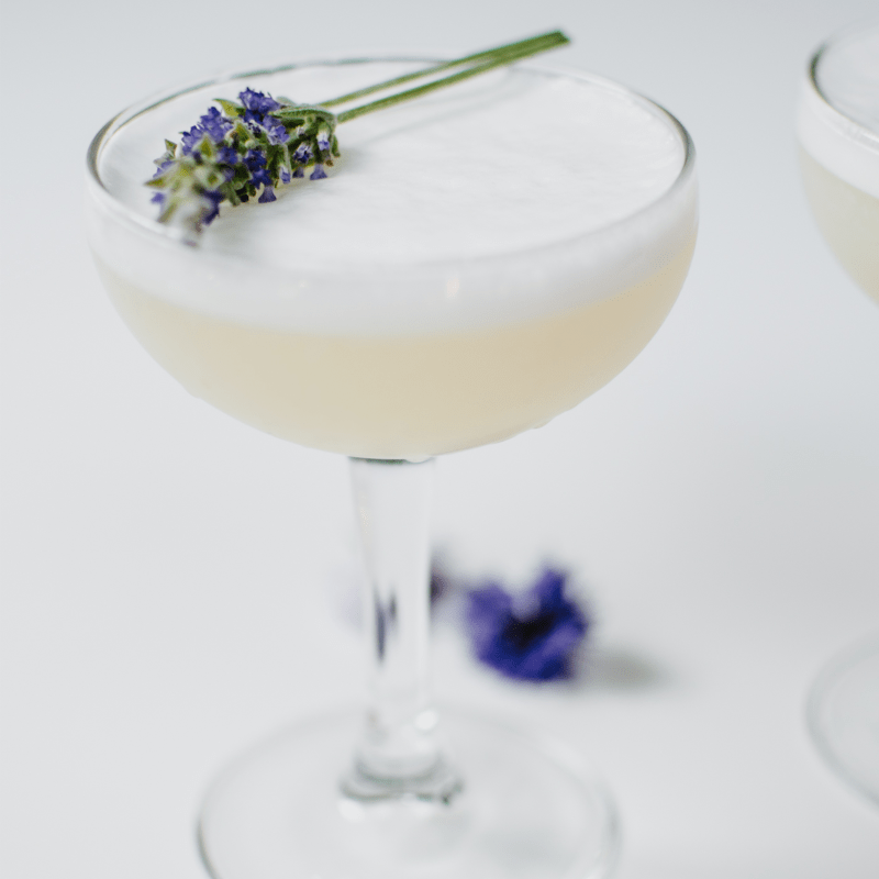 Lavender Gin Fizz Cocktail + How to Style Cocktails