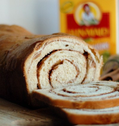 Golden Raisin Cinnamon Swirl Bread