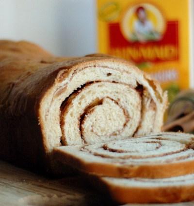 Golden Raisin Cinnamon Swirl Bread