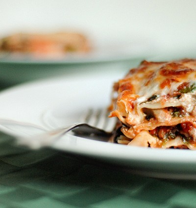Weeknight Spinach, Mushroom and Turkey Lasagna