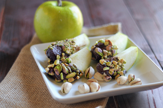 Pistachio Dipped Chocolate Covered Apples