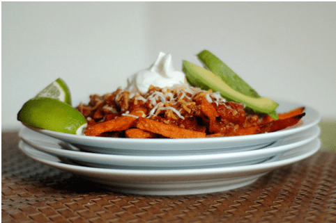 Baked Chili Sweet Potato Fries