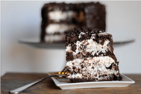 Peppermint patty layer cake
