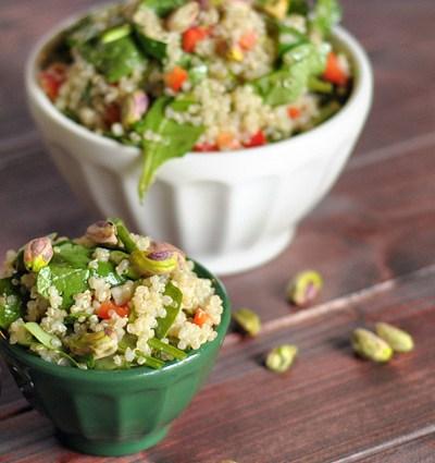 Sesame Pistachio Quinoa Salad from HeathersDish.com