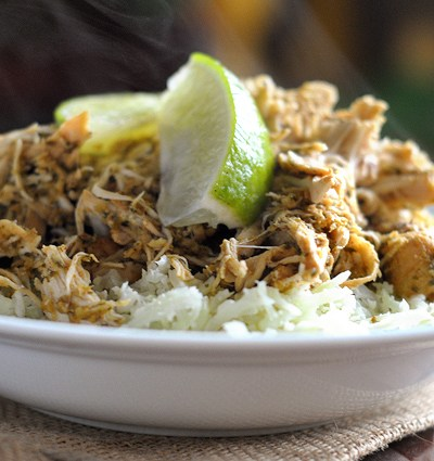 Slow Cooker Cilantro Lime Pineapple Chicken || Heather's Dish