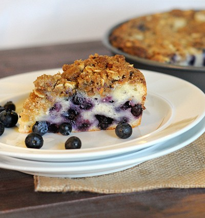 Blueberry Coffee Cake with Brown Sugar Almond Streusel