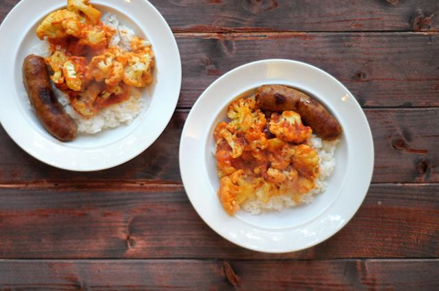 Roasted Cauliflower and Italian Sausage    Heather's Dish #onepot #skilletdinner #cauliflower #quickandhealthy