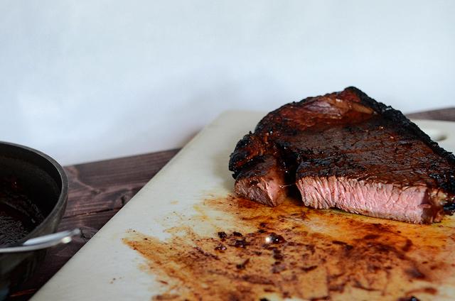 Ancho Marinated Steak and Ancho Chile Steak Sauce    HeathersDish.com