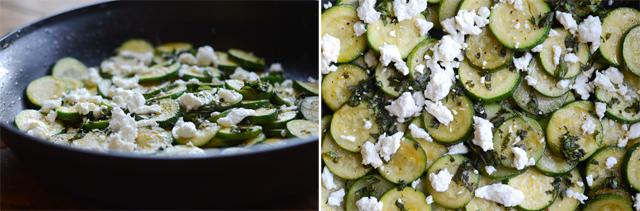 Paprika Zucchini Saute with Fresh Herbs and Goat Cheese || HeathersDish.com