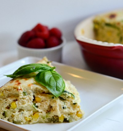 Sneaky Vegetarian Zucchini and Sweet Summer Corn Lasagna (Giveaway)