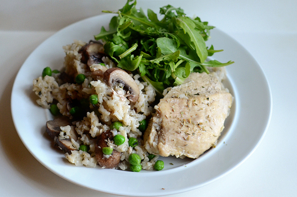 chicken-and-rice-with-mushrooms-and-peas