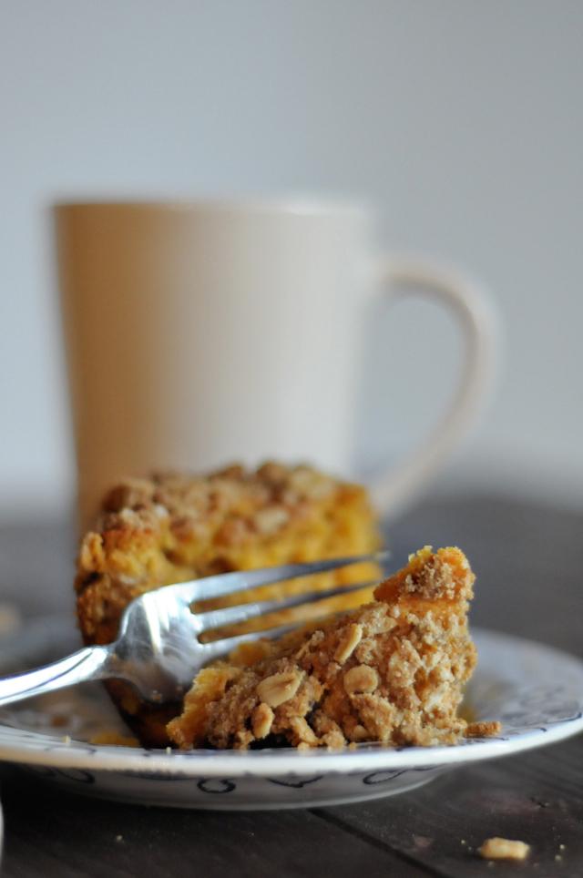Sweet Potato Coffee Cake with Gingersnap Streusel || HeathersDish.com