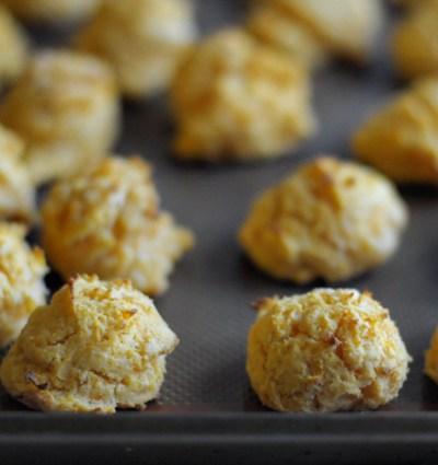 Sweet Potato Buttermilk Drop Biscuits