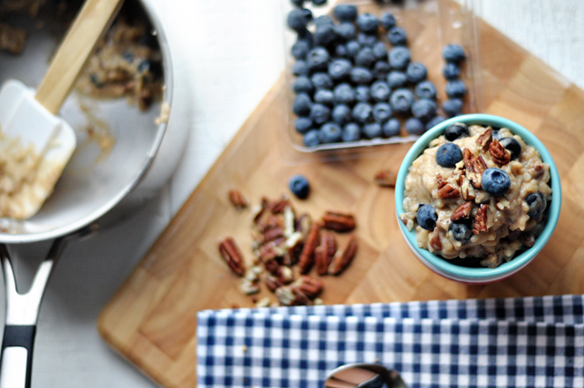 Honey Blueberry Pecan Rice Pudding || HeathersDish.com