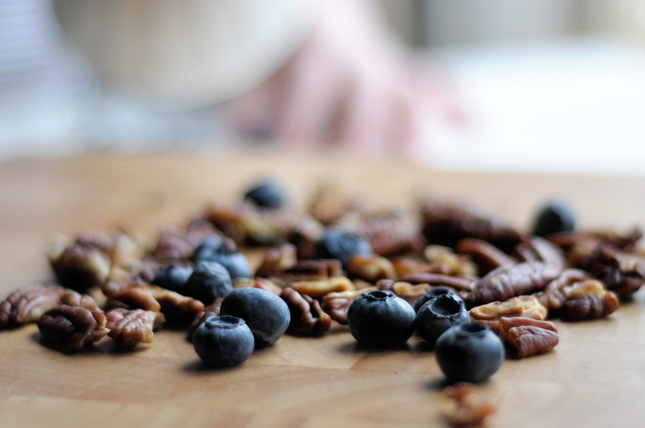 Honey Blueberry Pecan Rice Pudding || HeathersDish.com