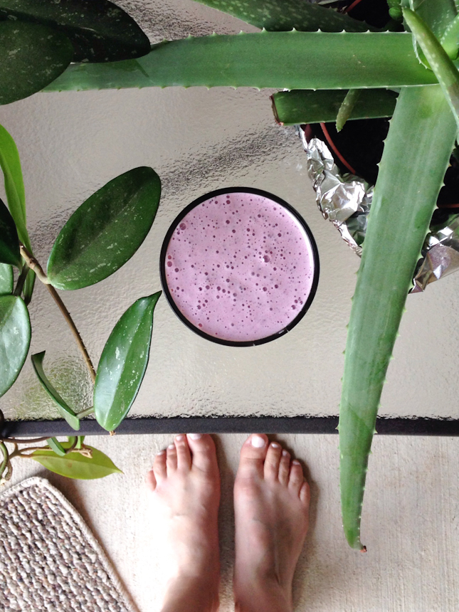 On The Go Smoothie || HeathersDish.com #blended