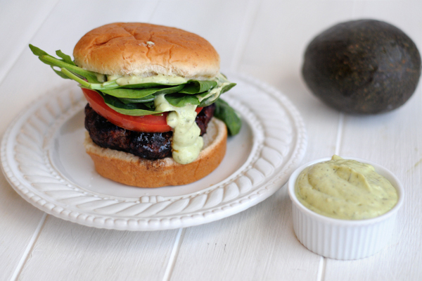 chili-coffee-crusted-burgers-with-avocado-ranch