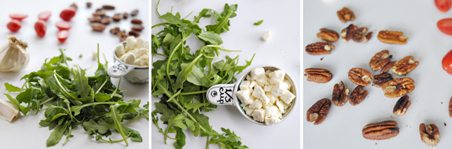Arugula Salad with Feta-Pecan Vinaigrette    HeathersDish.com