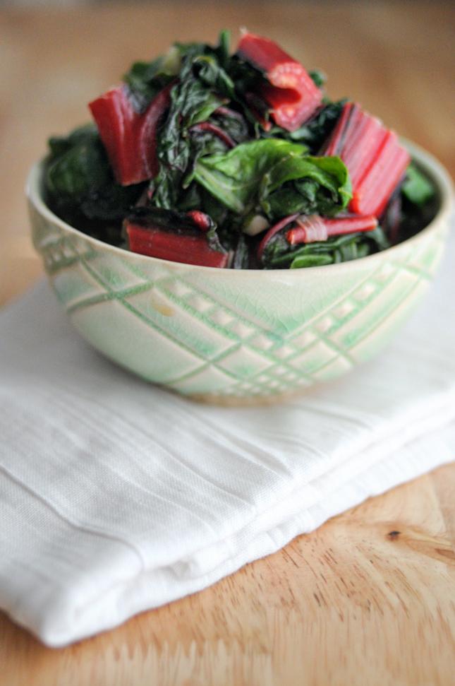 Sauteed Rainbow Chard with Shallots and Garlic || HeathersDish.com #healthyeating