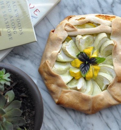 Summer Squash Goat Cheese Galette