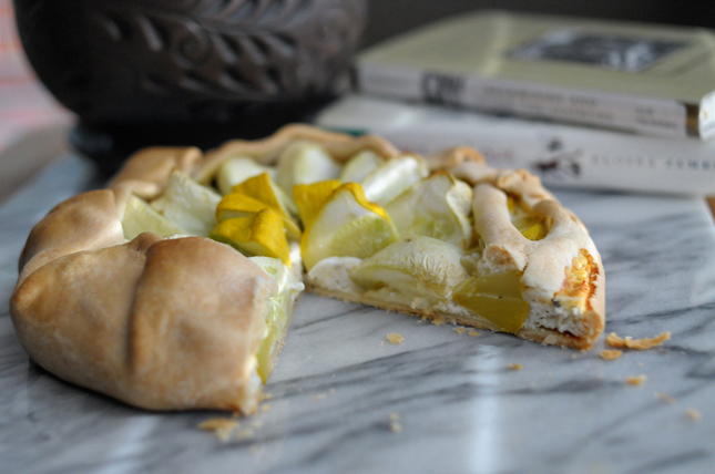 Summer Squash Goat Cheese Galette || HeathersDish.com