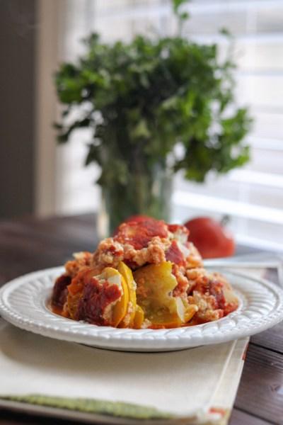 Baked Zucchini + Ricotta || HeathersDish.com