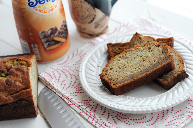 Toffee-Scented Banana Bread || HeathersDish.com #sponsored #IDelight