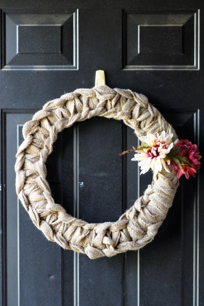 DIY Fall Burlap Wreath