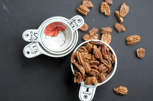 Sandy's Spiced Pecans are a new family favorite for snacks and celebrations. Perfectly sweet, spiced and salted!
