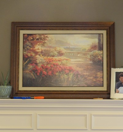 My $5 Mantle Makeover