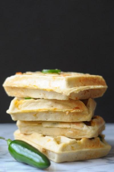 Jalapeño Cheddar Corn Waffles