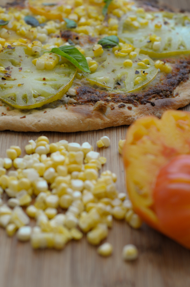 Late Summer Farmer's Market Pizza @heathersdish #pizza #farmersmarket #recipe