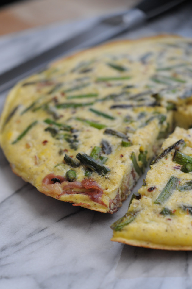 SEARED PROSCIUTTO & TOASTED ASPARAGUS FRITTATA