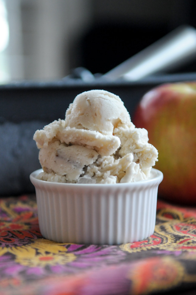 Caramel Apple Pecan Ice Cream @heathersdish