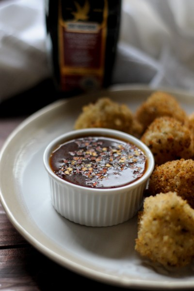 Arancini Di Riso with Spicy Tomato Balsamic Dipping Sauce